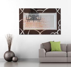 Ορθογώνιος Καθρέπτης τοίχου με τεχνοτροπία