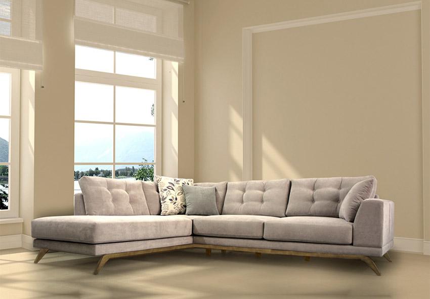 Καναπές γωνία σε νεοκλασική γραμμή