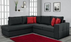 Γωνιακό σαλόνι με καπιτονέ