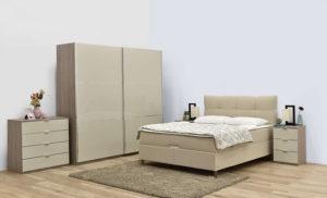 Κρεβάτι Διπλό με Στρώμα και Αποθηκευτικό Χώρο