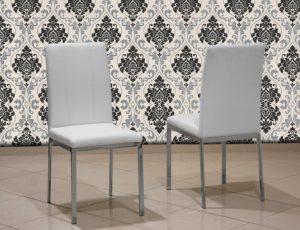 Μεταλλική καρέκλα κουζίνας με τεχνόδερμα