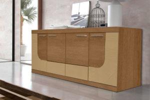 Μοντέρνος μπουφές με ακατέργαστο ξύλο δρυός