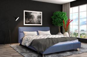 Ντυμένο κρεβάτι με διακοσμητικό γαλλικό φιτιλάκι