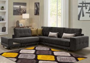 Πολυμορφικό σαλόνι γωνία με μεταλλικά πόδια