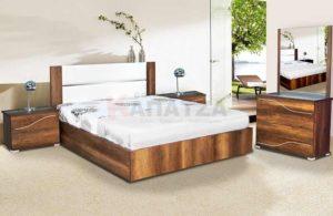 Σετ κρεβατοκάμαρας – Κρεβάτι με inox λεπτομέρειες