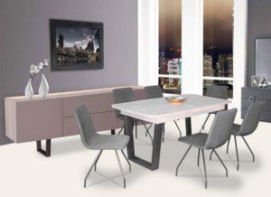 Ανοιγόμενο τραπέζι με 6 καθίσματα