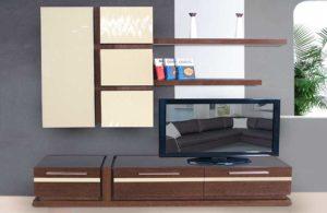 Σύνθεση τηλεόρασης με ανάγλυφο δρυ και λάκα