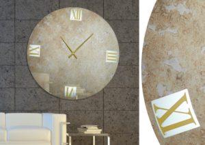 Χειροποίητος καθρέπτης ρολόι με φωτισμό Led
