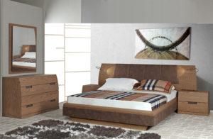 Σετ κρεβατοκάμαρας σε ξύλο δρυός