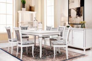 Классическая столовая-белый цвет