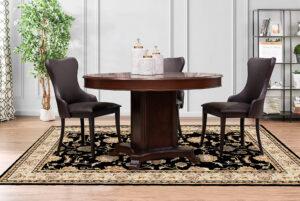 Круглый стол классического стиля и стулья