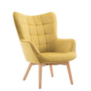 Πολυθρόνα σαλονιού σε κίτρινο χρώμα