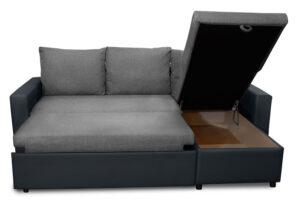 Καναπές γωνία με μηχανισμό κρεβατιού