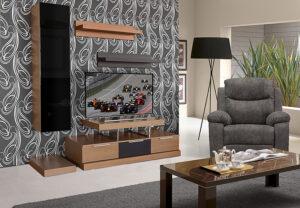 Σύνθετο τηλεόρασης σε ξύλο δρυός