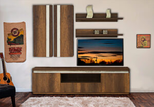 Σύνθεση τηλεόρασης με LED φωτισμό