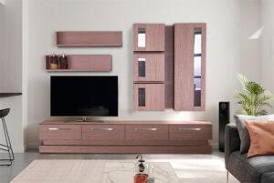 Σύνθετο τηλεόρασης σε δρυ