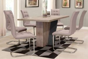 Μοντέρνο σετ τραπεζαρίας με 6 καρέκλες