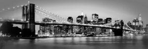 Γέφυρα του Μπρούκλιν σε καμβά με strass