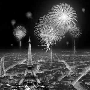 Πίνακας Παρίσι σε καμβά με strass