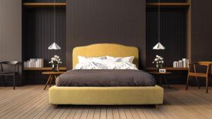 Υπέρδιπλο ντυμένο κρεβάτι  με αδιάβροχο ύφασμα