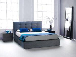Ντυμένο κρεβάτι με καπιτονέ