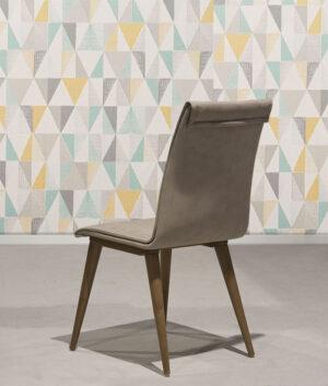 Καρέκλα τραπεζαρίας με τεχνόδερμα