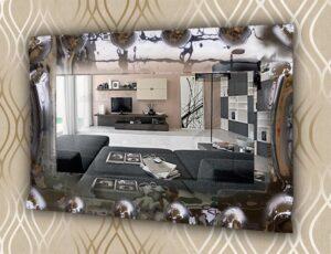 Ορθογώνιος διακοσμητικός καθρέπτης