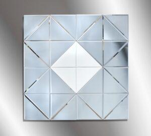 Καθρέπτης τοίχου χειροποίητος τετράγωνος με τεχνοτροπία