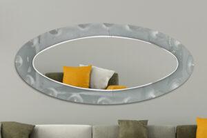 Χειροποίητος Καθρέπτης σε οβάλ σχήμα με τεχνοτροπία